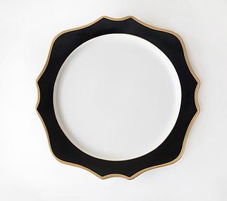 Black and Gold charger plate