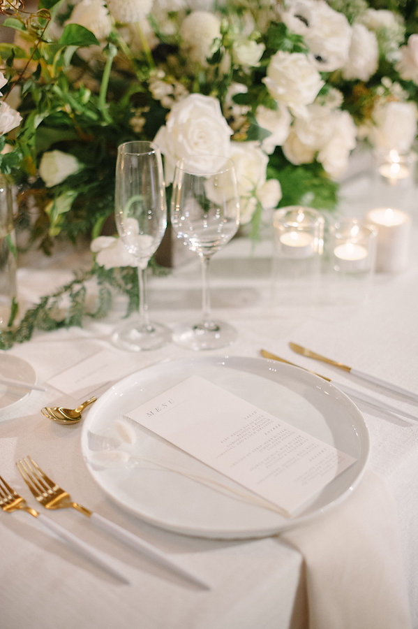 Beautiful White and Gold tableware