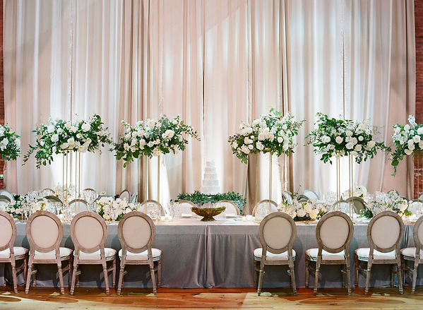 Beautiful floral centerpiece for wedding tables