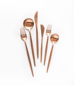 Rose Gold Flatware miami