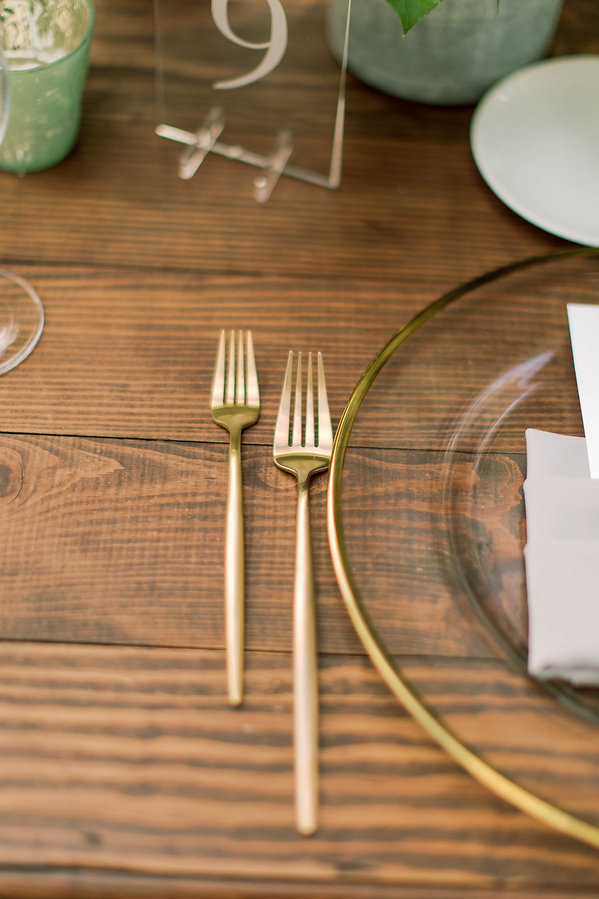 Gold Flatware for weddings