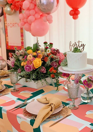 Colorful 40th Birthday Inspiration