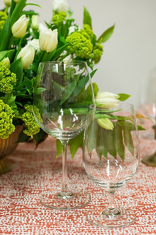 Elegant glassware for thanksgiving