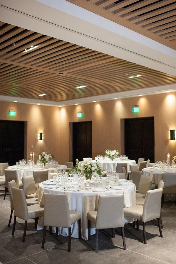 Beautiful White wedding reception table