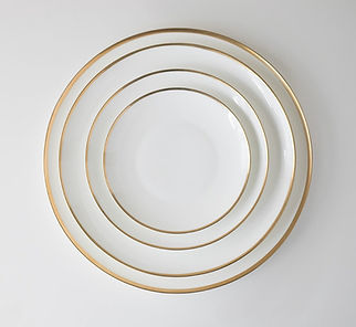 White and Gold Dinnerware set