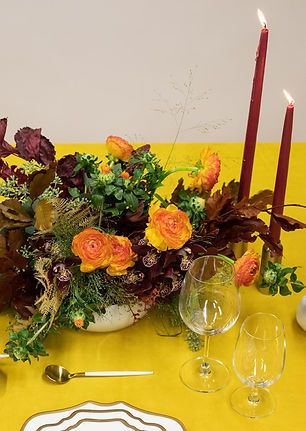 Floral centerpiece idea for thanksgiving