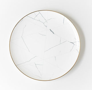 Marble Charger Plates with Gold Rim