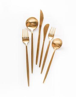 gold inspired flatware