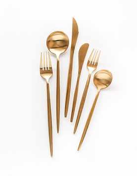 gold inspired flatware