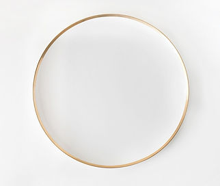 White and gold edge plate