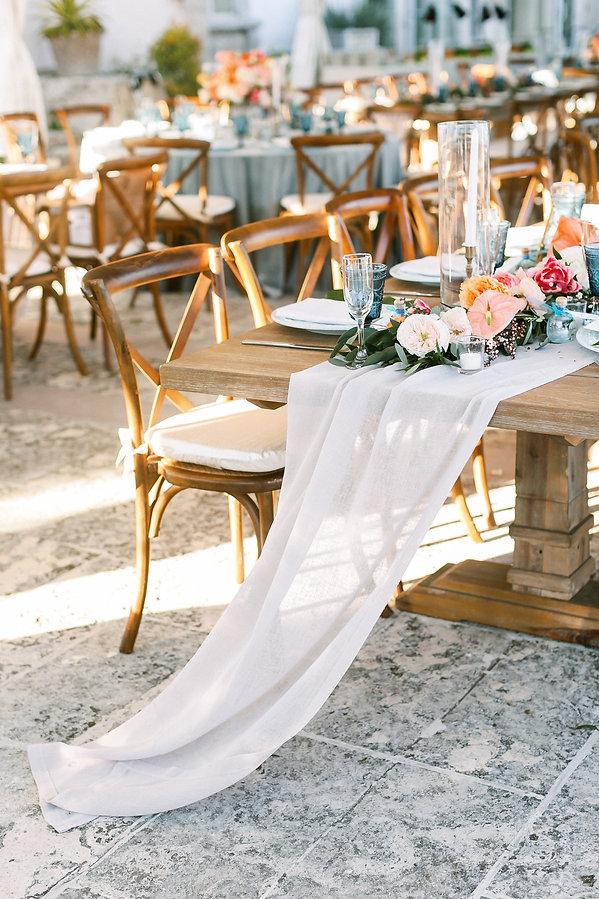 Beautiful White Table Runner