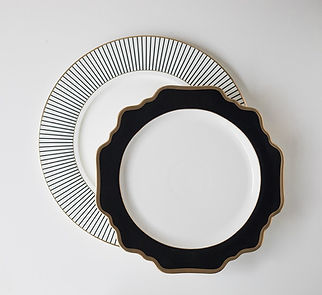 black dinnerware miami