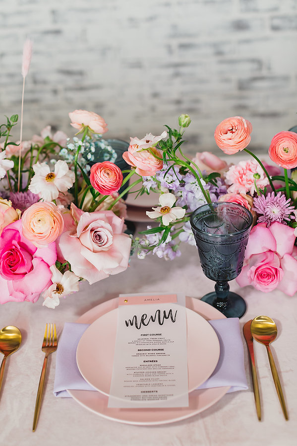 Pink and Gold table setting for any occasion