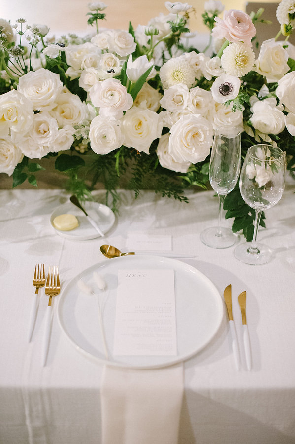 White and Gold Flatware for a beautiful table setting