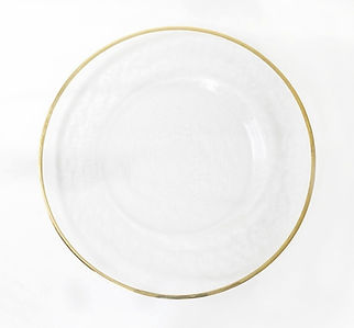 glass and gold charger plate