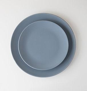 Pastel blue plates
