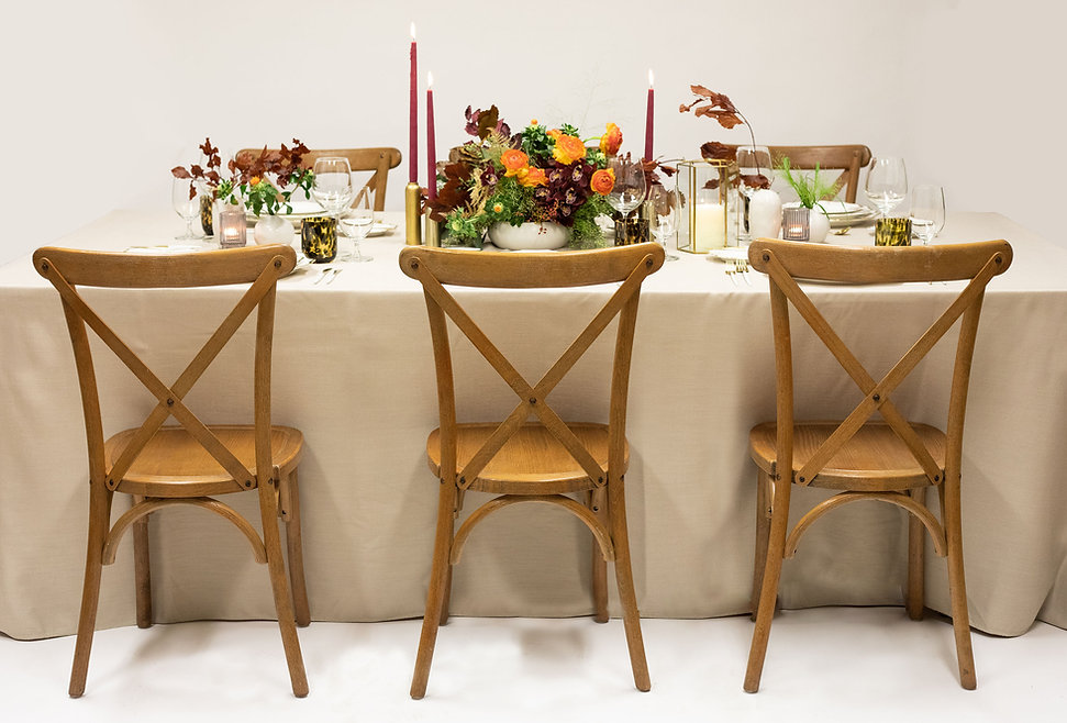 pre-curated thanksgiving table setting