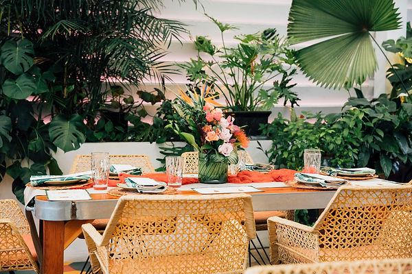 Tropical Table Settings