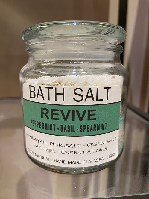 Bath Salt - Revive (Peppermint, Basil, Spearmint)
