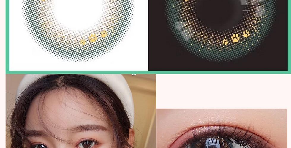 14.2mm Special Amber Mint Gold Contact lens Korea Cosmetic circle lenses