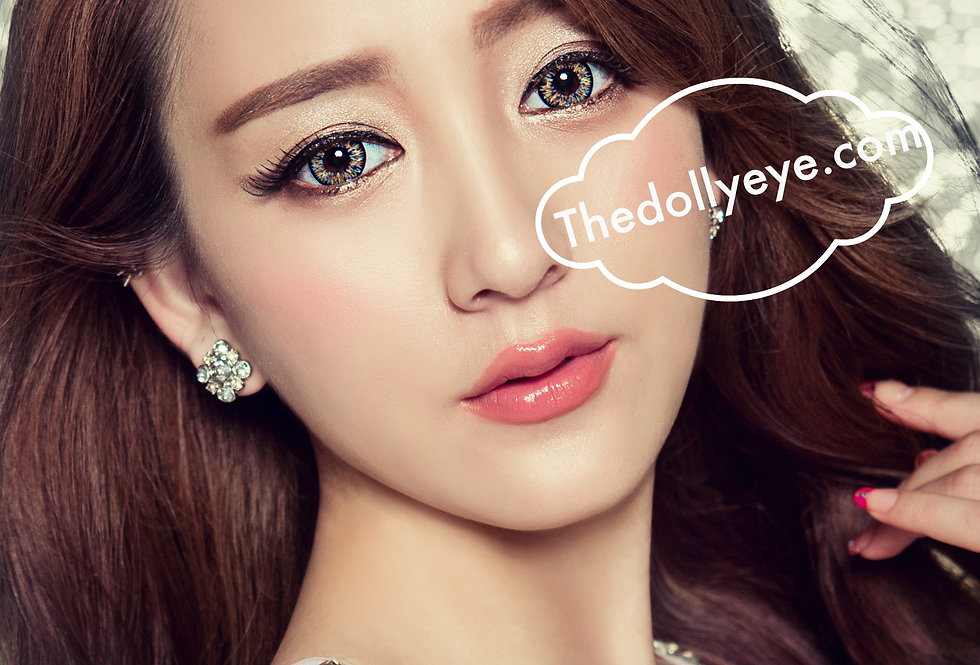 Glamorous rainbow Hazel Contact lens -Korea Cosmetic circle lenses
