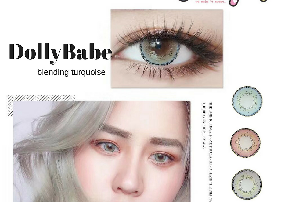 DOLLYBABE TURQUOISE Contact lens -Korea Cosmetic circle lenses