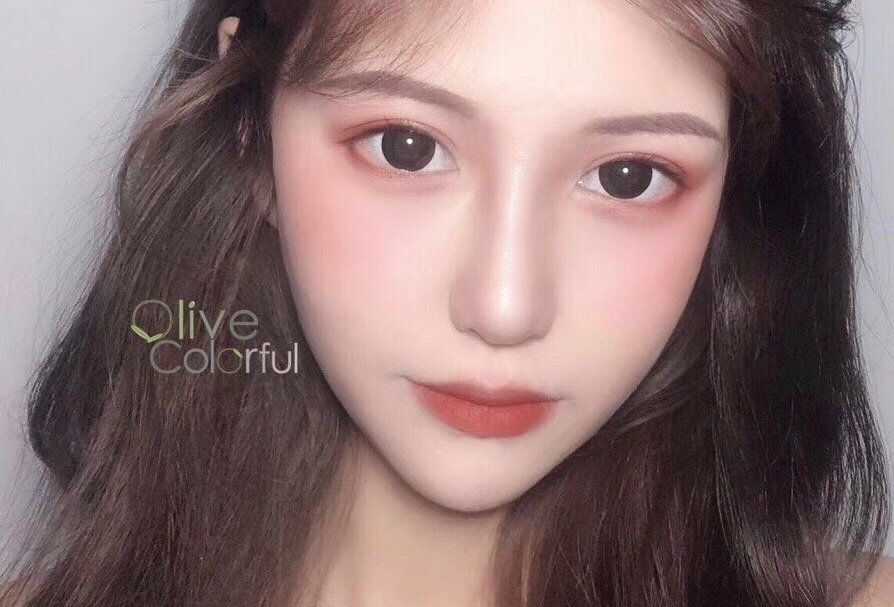 Olive colorful circle Doll Black