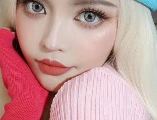 MODEL perfect eye Gray cosmetic contact lens Free Worldwide Shipping