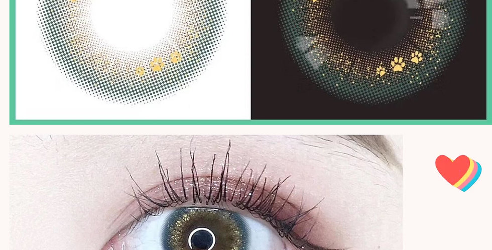 Contact lens- Special Amber Mint Gold- Korea Cosmetic circle lenses