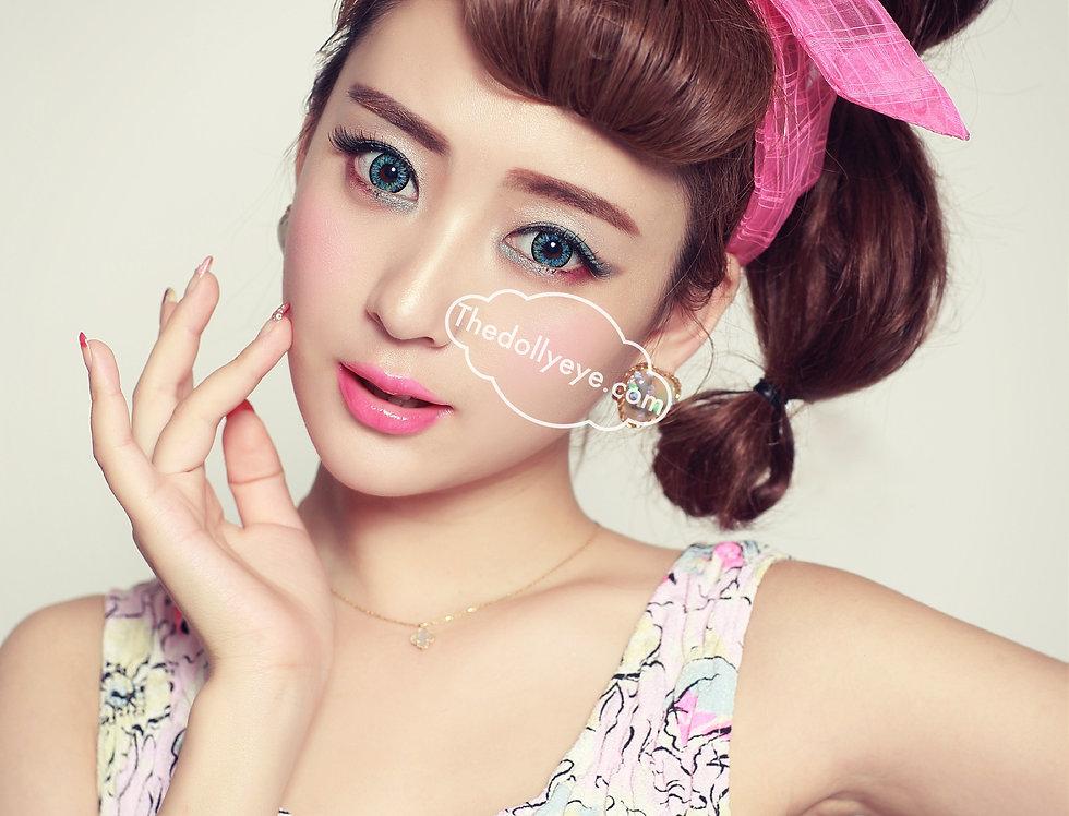 Glamorous  Ocean Blue Rainbow Contact lens -Korea Cosmetic circle lenses