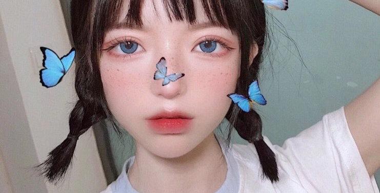 JANe Blue Contact Lens Circle colour lens