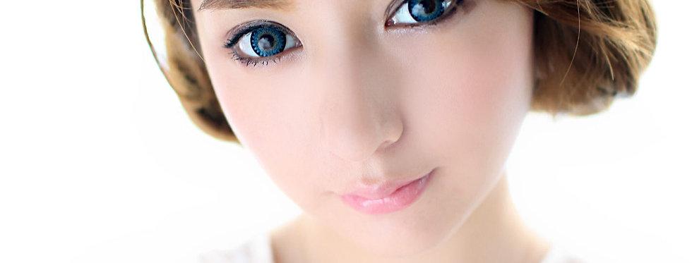 Cookie Navy Blue Contact lens -Korea Cosmetic circle lenses