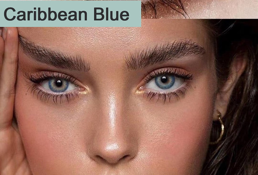 Modeleye Caribbean Blue Cosmetic contact Lens