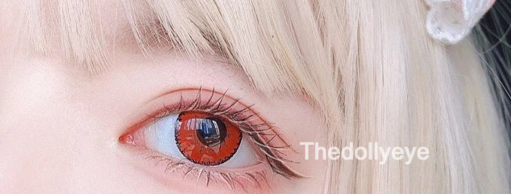 JANe RED Contact Lens Circle colour lens