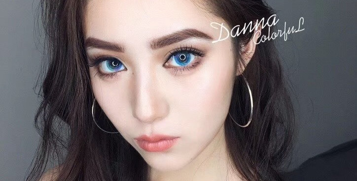 DANA COLOURFUL Real Blue Korea Cosmetic circle lenses [Dolly eye contact lens]