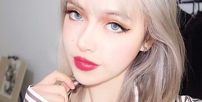 iDOL BRIGHT REAL BLUE Korea Cosmetic circle lenses [Dolly eye contact lens]
