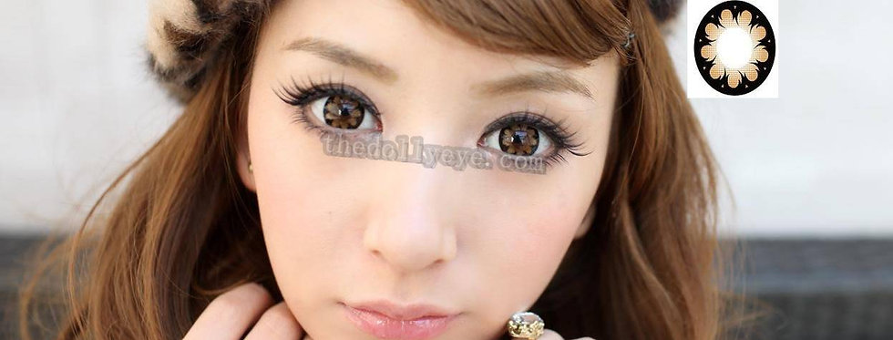 Hana Brown Contact lens -Korea Cosmetic circle lenses