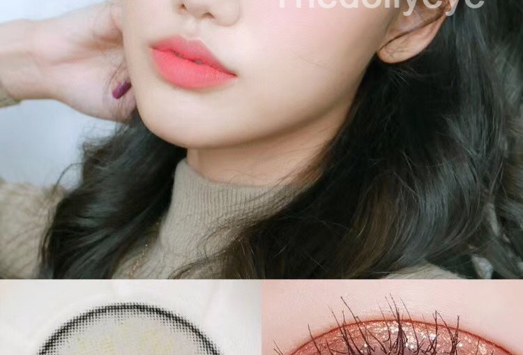 KKW Beauty For eye SILVER Contact lens -Korea Cosmetic circle lenses