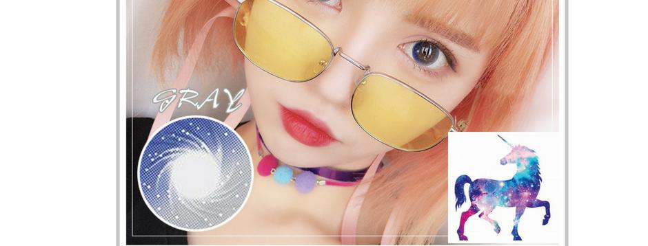Contact lens -Korea Cosmetic circle lense Korea Cosmetic circle GALAXYBLEND Gray
