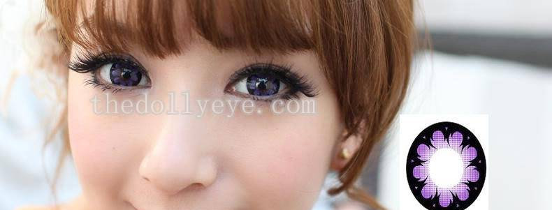 Hana Violet Contact lens -Korea Cosmetic circle lenses