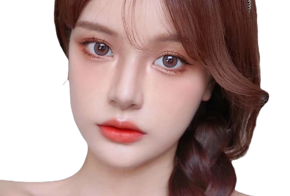Cherrie Grey mix Pink cosmetic contact lens