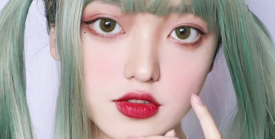 Water Lily Fesh Mint Korea Cosmetic circle lenses [Dolly eye contact lens]