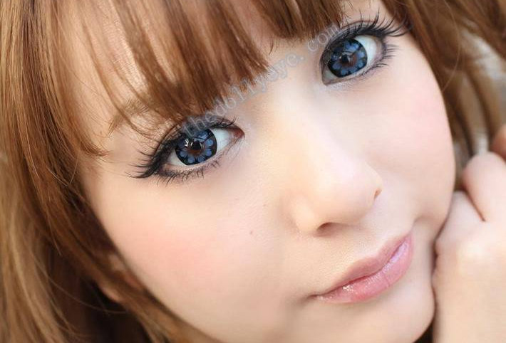 Hana Blue Contact lens -Korea Cosmetic circle lenses