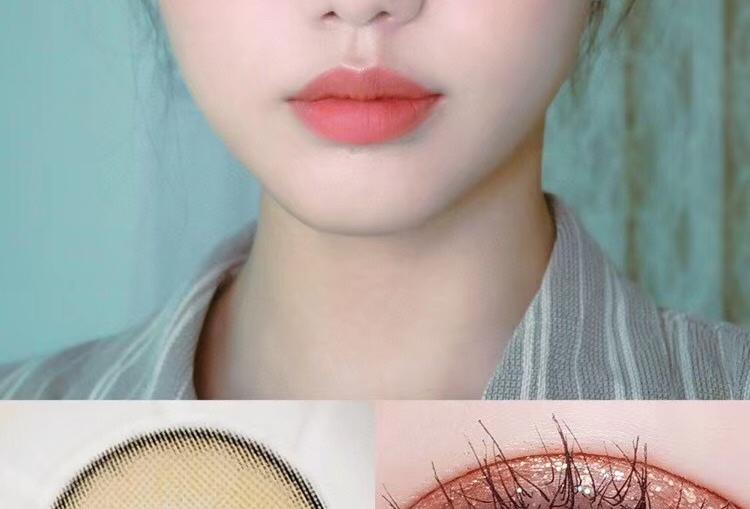 KKW Beauty For eye Bronze Contact lens -Korea Cosmetic circle lenses
