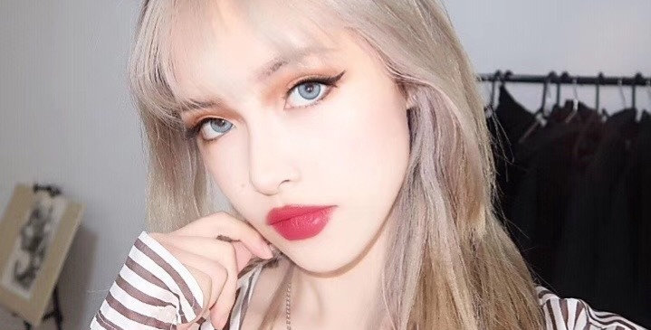 iDOL BRIGHT REAL BLUE Korea Cosmetic circle lenses [Dolly eye contact lens]
