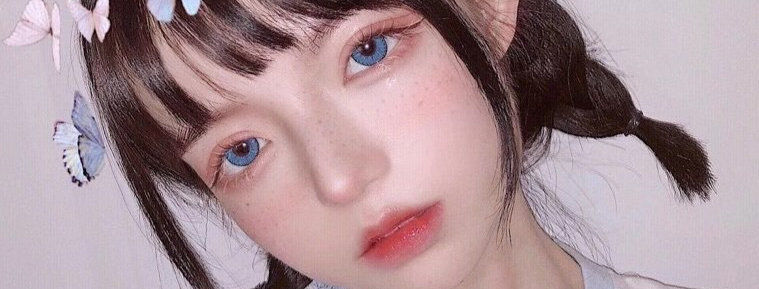 JANe Blue Contact Lens Circle colour lens