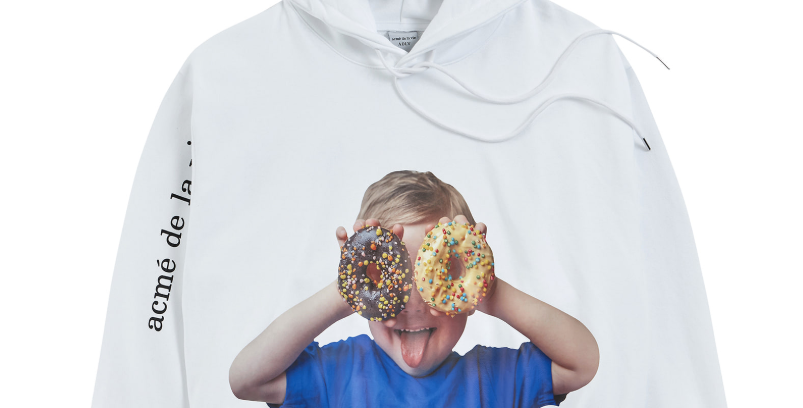 BABY FACE HOODIE WHITE DONUT 2
