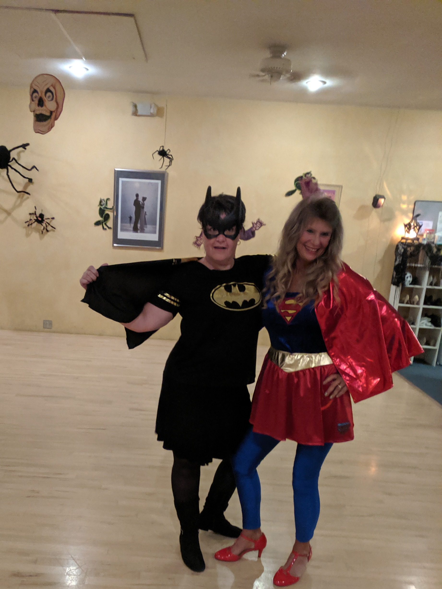 Bat Girl Jill & Super Girl Tina_edited