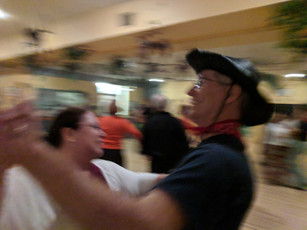 Sheriff Rick and Pat enjoy a Waltz