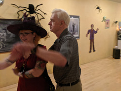 Hugh taking the Witch for a Cha Cha